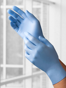 9210UNI Nitrile Powder-Free, Fingertip-Textured Exam Gloves
