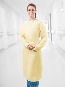 MLN177 Multilayer Spunbond AAMI Level 2 Over-the-Head Gown With Thumb Hooks (Moderate Risk)